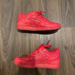 Asics gel lyte III triple red marble leather